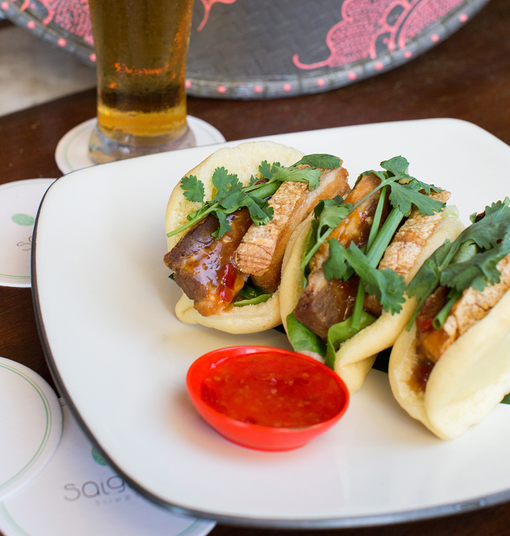 Are you coriander yay or nay? Saigon Lane's crispy pork buns are delish! (Photo: supplied)
