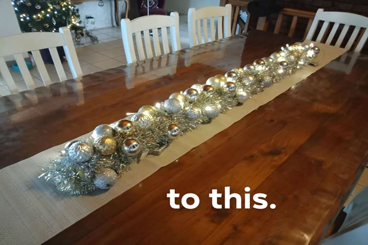 Kmart Mums Are Making Amazing Christmas Dinner Table Decorations With A 2 Pool Noodle New Idea Food