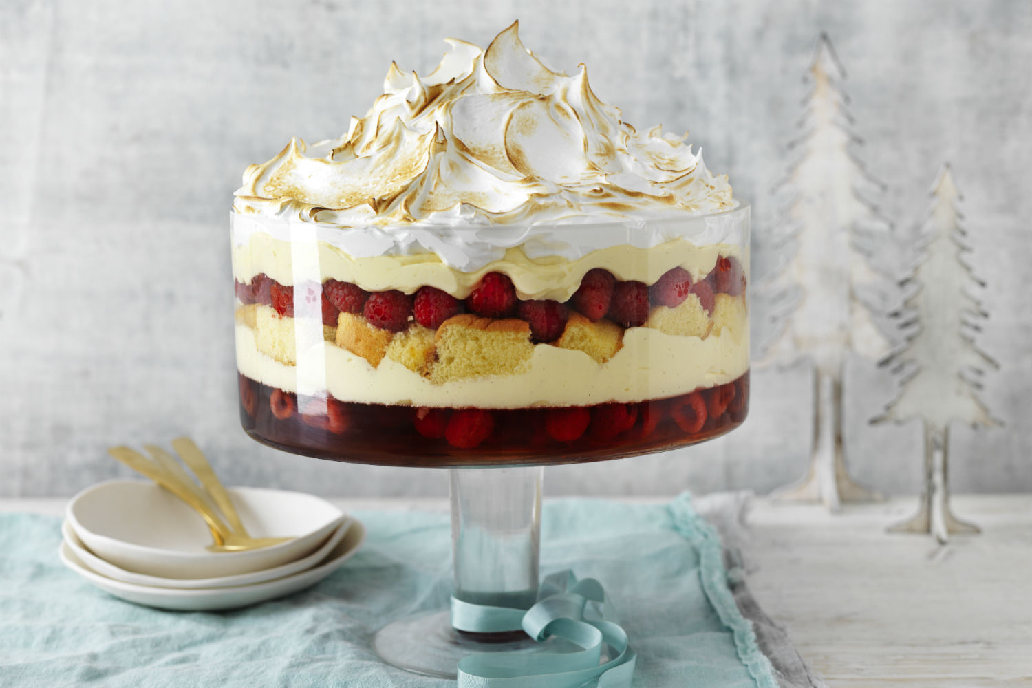 Epic Raspberry Trifle With Meringue Top Recipe New Idea Food