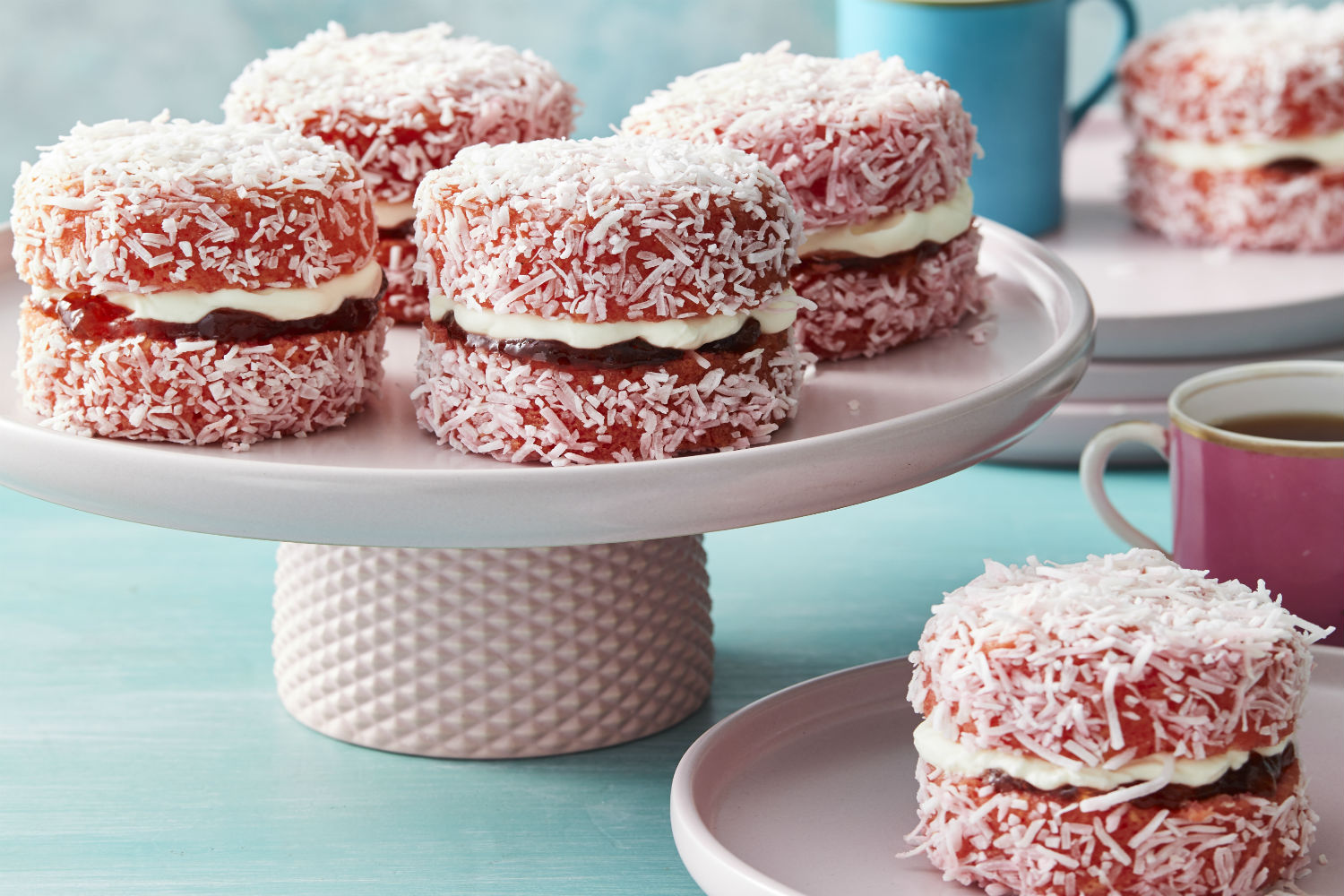 Best Ever Pink Jelly Lamington Cakes Recipe New Idea Food