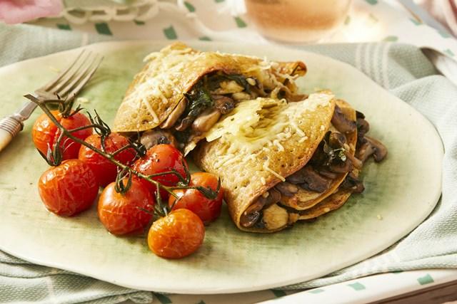 Mushroom Feta And Spinach Crepes Recipe New Idea Food