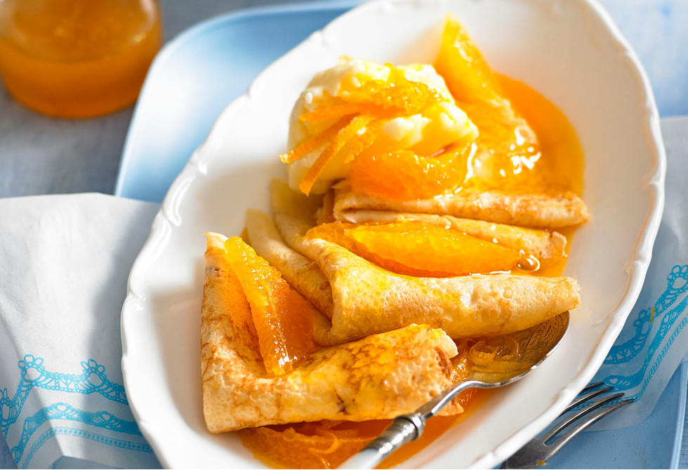 Crepes With Sweet Orange Sauce Recipe New Idea Food