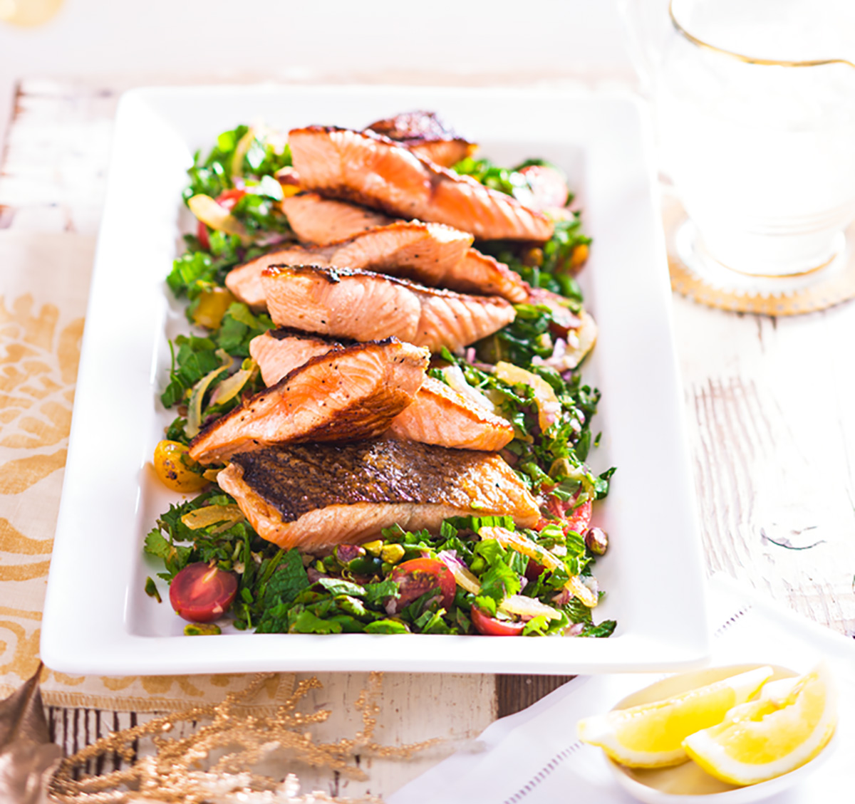 Catering for a crowd? Try our Barbecued salmon with Moroccan salad